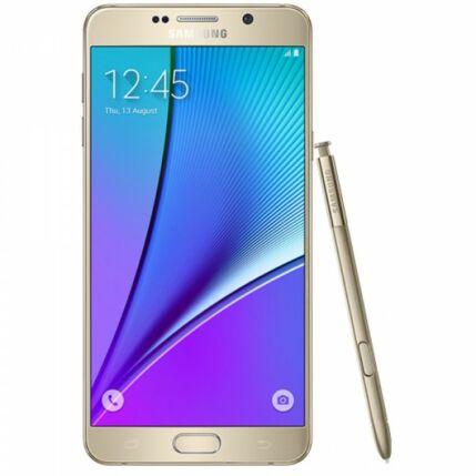Samsung N920 Galaxy Note 5 32GB, (Kártyafüggetlen 1év garancia), Mobiltelefon, arany