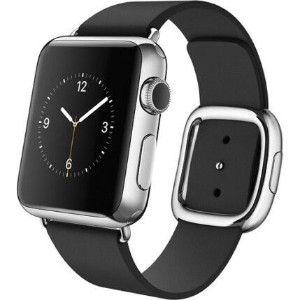 Okosóra, Apple Watch 38mm Stainless Steel 1Series Modern Medium, fekete
