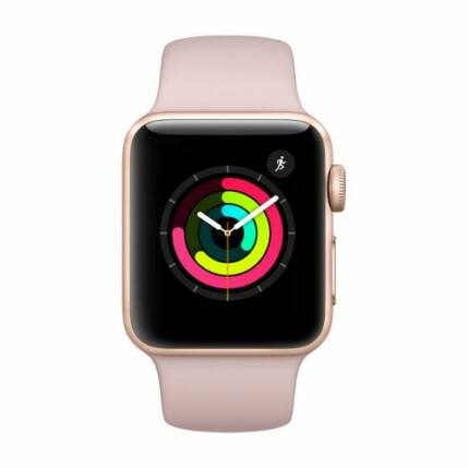 Okosóra, Apple Watch 3 (MQKW2) 38mm, arany-pink