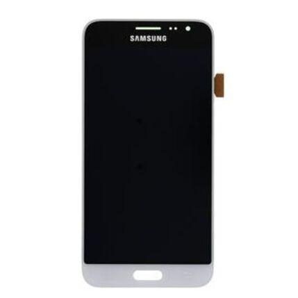 Samsung J320 Galaxy J3 2016, LCD kijelző érintőplexivel, fehér