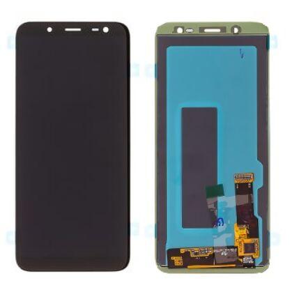LCD kijelző, Samsung J600 Galaxy J6 2018, érintőplexivel, fekete