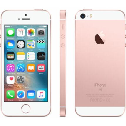 Mobiltelefon, Apple iPhone SE 32GB, Kártyafüggetlen, 1 év garancia, rose gold