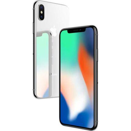 Apple iPhone X 256GB, Mobiltelefon, ezüst