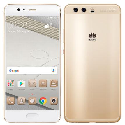 Mobiltelefon, Huawei P10 Plus 128GB LTE Kártyafüggetlen, 1+1 év garancia, arany