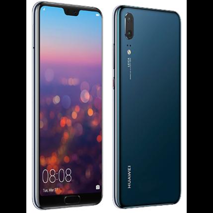 Mobiltelefon, Huawei P20 4G LTE 128GB DualSim, kártyafüggetlen, 1 év garancia, kék