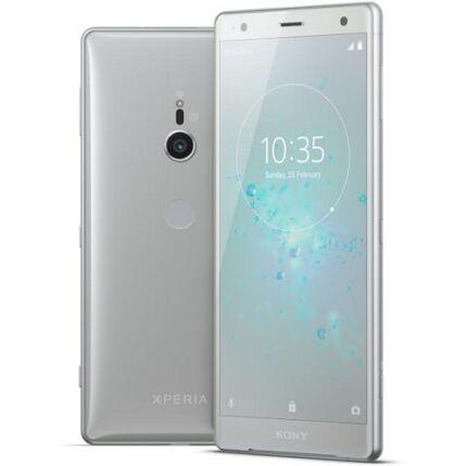 Mobiltelefon, Sony Xperia XZ2 H8266 DualSim kártyafüggetlen, 1 év garancia, ezüst
