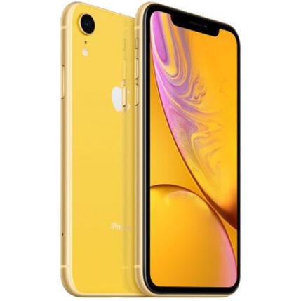 Mobiltelefon, Apple iPhone XR 128GB, Kártyafüggetlen, 1év garancia, sárga
