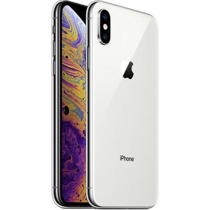 Mobiltelefon, Apple iPhone XS Max 64GB DualSim, Kártyafüggetlen, 1év garancia, ezüst