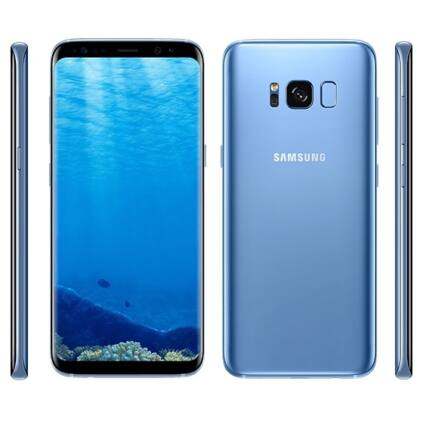Samsung G950F Galaxy S8 64GB, (Kártyafüggetlen 1+1 év garancia), Mobiltelefon, kék