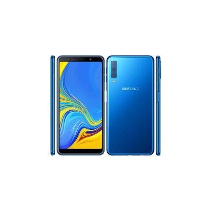 Mobiltelefon, Samsung A750 Galaxy A7 2018 64GB DualSim, Kártyafüggetlen, 1 év garancia, kék