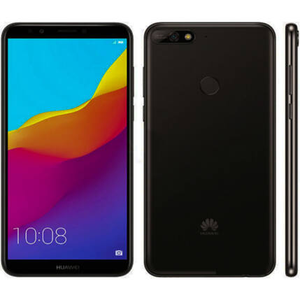 Huawei Y7 2018 16GB, (Kártyafüggetlen 1+1 év garancia), Mobiltelefon, fekete