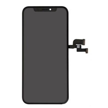 LCD kijelző, Apple iPhoneXS érintőplexivel, fekete (OEM lcd kijelző érintőpanellel (Oled)