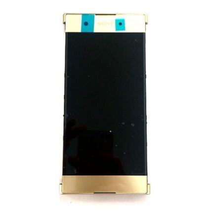 LCD kijelző, Sony Xperia XA1 Plus DualSim G3412 érintőplexivel és előlappal, arany