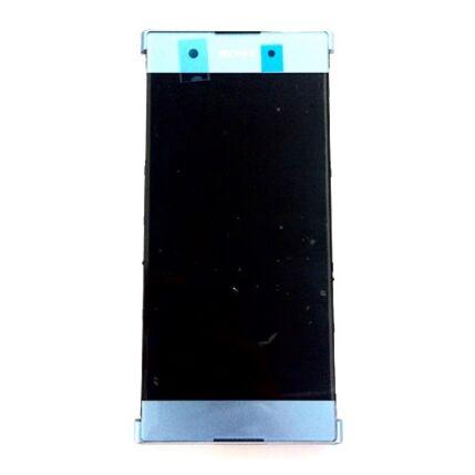 LCD kijelző, Sony Xperia XA1 Plus DualSim G3412 érintőplexivel és előlappal, kék