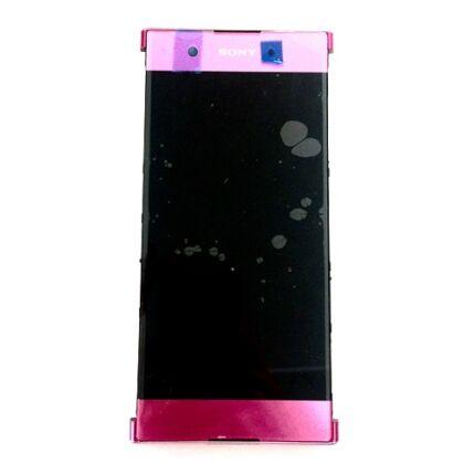 LCD kijelző, Sony Xperia XA1 Plus DualSim G3412 érintőplexivel és előlappal, rózsaszín