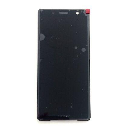 LCD kijelző, Sony Xperia XZ2 Compact H8314, Xperia XZ2 Compact Dual H8324 érintőplexivel, fekete