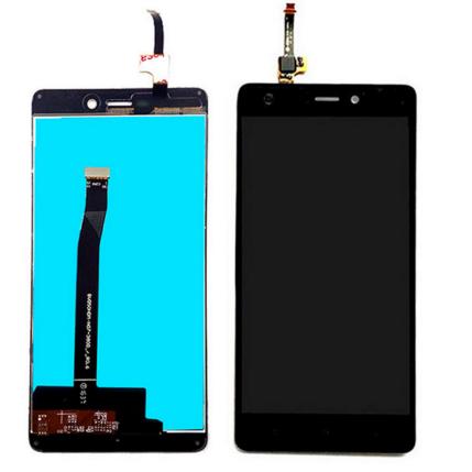 LCD kijelző, Xiaomi Mi3s, Redmi 3, 3S érintőplexivel, fekete