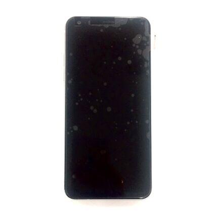 LCD kijelző, LG Q7 érintőplexivel és előlap kerettel, fehér