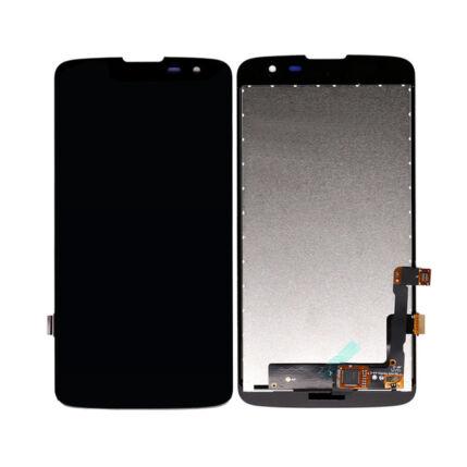 LCD kijelző, LG Q7 érintőplexivel, fekete