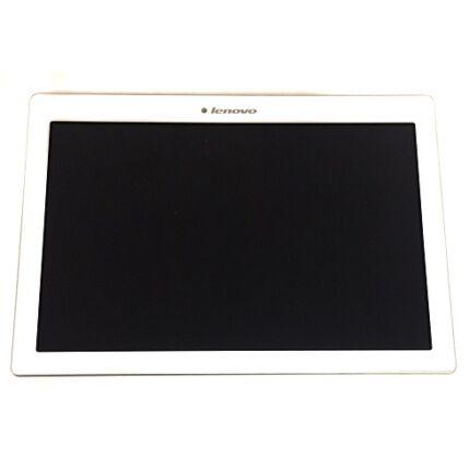 LCD kijelző, Lenovo TB3-X70 Tab 3 10 Plus érintőplexivel és előlap kerettel, fehér