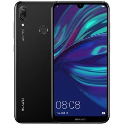 Mobiltelefon, Huawei Y7 2019 32GB 3GB Ram DualSim, Kártyafüggetlen, 1 év garancia, fekete