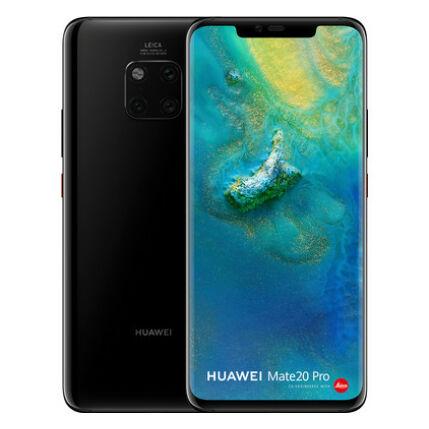 Mobiltelefon, Huawei Mate 20 Pro 128GB DualSim, kártyafüggetlen, 1 év garancia, fekete