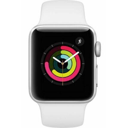 Apple Watch 3 (MTEY2LLA) 38mm, Okosóra, ezüst-fehér