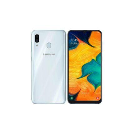 Mobiltelefon, Samsung A305F Galaxy A30  64GB Kártyafüggetlen, 1év garancia, fehér