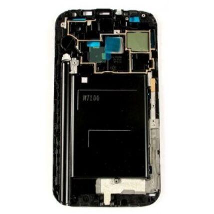 LCD keret, Samsung N7100 Galaxy Note 2 (home gombbal), fekete