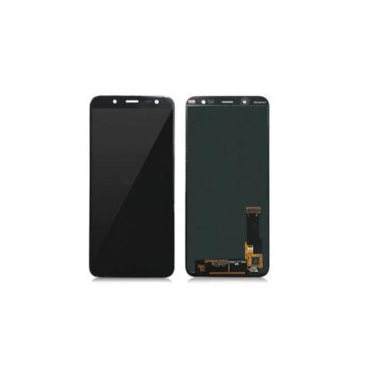 LCD kijelző, Samsung J810 Galaxy J8 2018 érintőplexivel, fekete