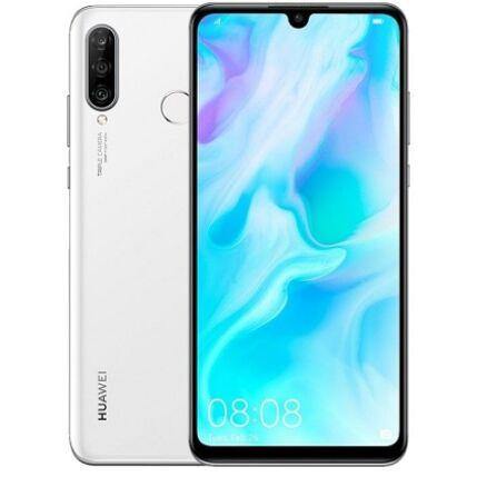 Mobiltelefon, Huawei P30 Lite 128GB DualSim, Kártyafüggetlen, 1 év garancia, fehér