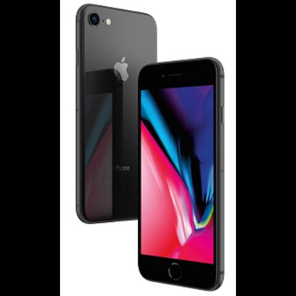Apple iPhone 8 128GB, (Kártyafüggetlen 1 év garancia), Mobiltelefon, szürke
