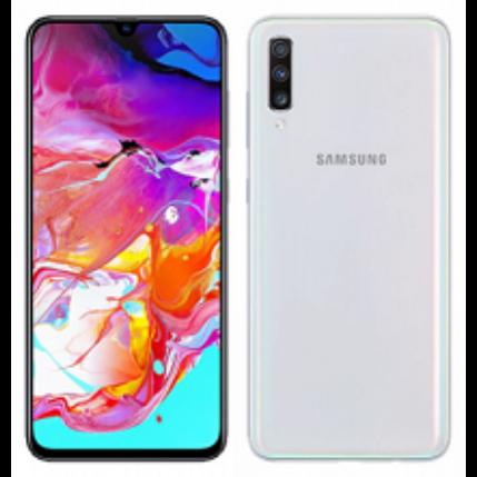 Samsung A705 Galaxy A70 128GB DualSIM, (Kártyafüggetlen 1 év garancia), Mobiltelefon, fehér