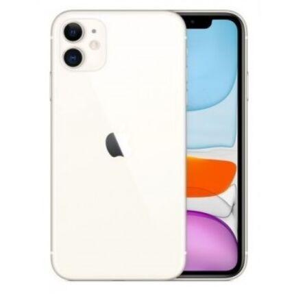 Apple iPhone 11 128GB 6.1, (Kártyafüggetlen 1 év garancia), Mobiltelefon, fehér