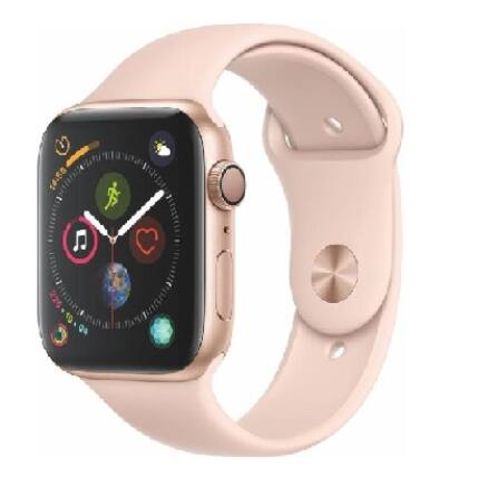 Apple Watch 4 (MU6F2LL/A GPS) Aluminium Arany Sport Band Pink 44mm, Okosóra, gold