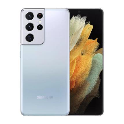 Samsung G998B Galaxy S21 Ultra 512GB 16GB RAM 5G DualSIM, (Kártyafüggetlen 1 év garancia), Mobiltelefon, ezüst