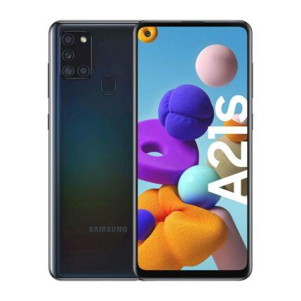 Samsung A217F Galaxy A21S 128GB 4GB RAM DualSIM, Mobiltelefon, fekete