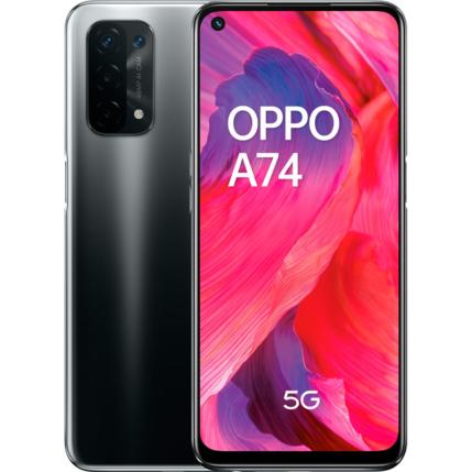 Oppo A74 5G 128GB 6GB RAM DualSIM, Mobiltelefon, fekete