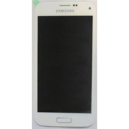 Samsung G800 Galaxy S5 Mini, LCD kijelző érintőplexivel, fehér