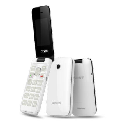 Mobiltelefon, Alcatel OT-2051X, fehér