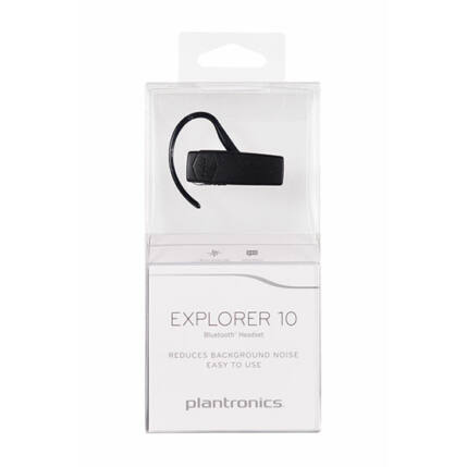 Bluetooth headset, Plantronics Explorer 10, fekete