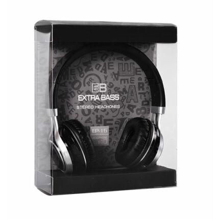 Fejhallgató, Extra Bass (EP-16), fekete