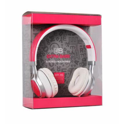 Fejhallgató, Extra Bass (EP-16), rózsaszín