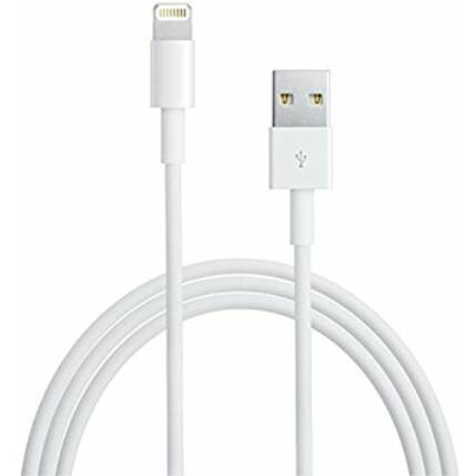 Adatkábel, Apple iPhone 5, 6, 6 Plus, 7, 7 Plus, 8, 8 Plus, X, fehér*