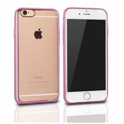 Szilikon tok, Apple iPhone 7 Clear - rózsaszín