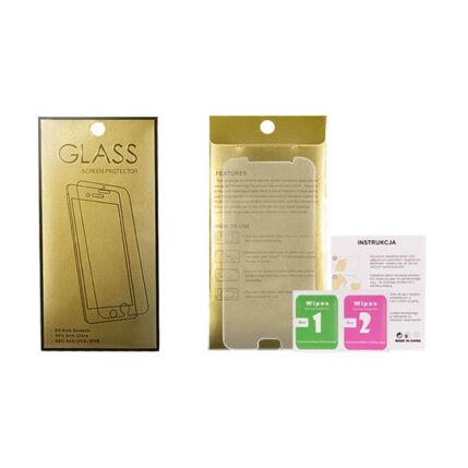 Kijelzővédő fólia, Apple iPhone 7 (ütésálló) Glass-Gold