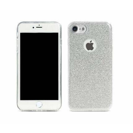 Szilikon tok, Apple iPhone 7, iPhone 8, Remax (Csillámos) - ezüst