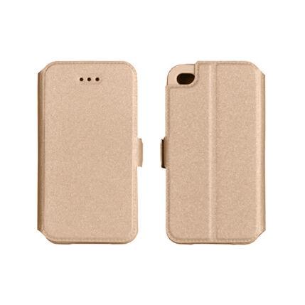 Oldalra nyíló flip tok, Huawei P Smart, Book - arany