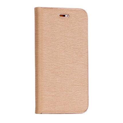 Oldalra nyíló flip tok, Huawei P Smart, Vennus - arany