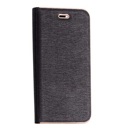 Oldalra nyíló flip tok, Samsung G960 Galaxy S9, Vennus - fekete